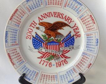 Bicentennial Calendar Plate from Spencer Gifts
