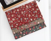 3 Color Erica Flower Red Brown Blue Cotton 100% C28552