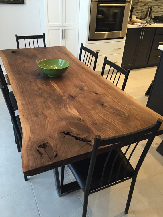 Live Edge Dining Table Black Walnut By PlankToTable