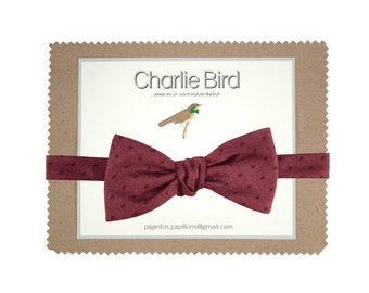 Plum colour bow tie