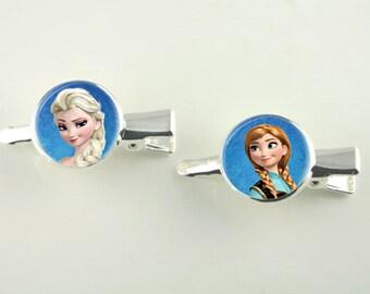 Beautiful Princess Series Silver Hair Slides Two in set V12