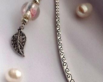 Bookmark Pearl silver