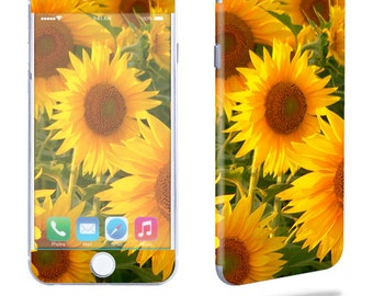 Skin Decal Wrap for Apple iPhone 7 7 Plus 6 6 Plus 5C 5/5S 4 iPod Touch 5G Touch 4G Vinyl Cover Sticker Skins Sunflowers