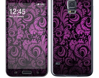 Skin Decal Wrap for SamsungGalaxy Note5 S6 Edge+ S6 S5 S4 S3 Note Edge Note 4 & 3 AlphaG850 Vinyl Cover Sticker Skins Purple Style