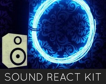EL Glow Wire Kit Cool Neon (2m / 6.5 ft) - SOUND ACTIVATED - Halloween, Burning Man, Shambhala, Rave, Music Festivals, Glow Costumes