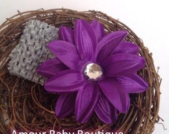 Baby girl headband, first birthday headband, newborn headband, girls headband, baby headband, flower headbands, baby bow headband, FWB, OOAK