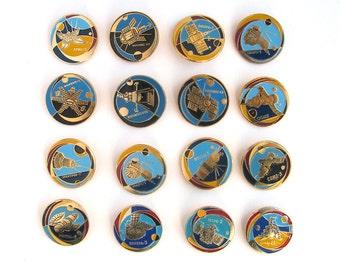 Space, Badges, Pick from Set, Cosmos, Vintage collectible badge, Soviet Vintage Pin, Soviet Union, Made in USSR