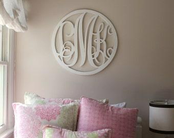 Wood Monogram Wall Decoration