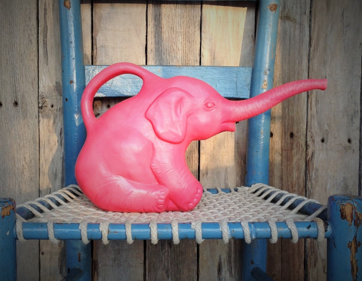 Pink Elephant Plastic Watering Can
