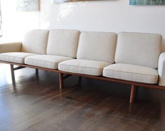 Rare Hans Wegner Four Seater Sofa
