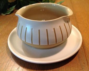 Denby Stoneware Gourmet Gravyboat Vintage 1960s Midcentury