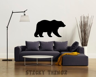Bear Decal, Wall Decal, Bear Sticker, California Decal, Car Decal, Car Sticker, Laptop Decal, Bear, Animal Decal, Yeti Decal, Bear