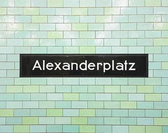 Alexanderplatz Berlin Photography Art Metro U-Bahn Subway Germany Berlin Picture Fine Art Modern Urban Print Polaroid Wall Decor