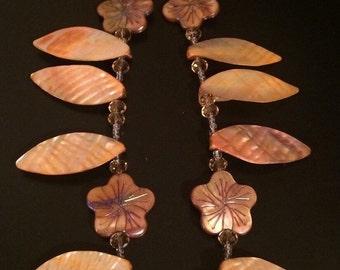 Golden Flowers, leaf shaped sea shells, flower shaped sea shells, leaf shaped abalone 2timothys16, pInted sea shells, abalone like cover