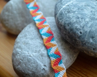 Fun friendship bracelet. Handmade bracelet. ONE SIZE.