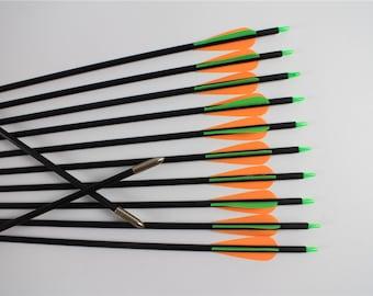 "12Pcs Archery Arrows Fiberglass shaft 28""-32"" length Hunting&Shooting Target Practice"