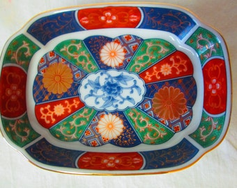 Vintage Takahashi Japan Empress 1987 hand decorated Bowl Dish Trinket Pin Soap Dish