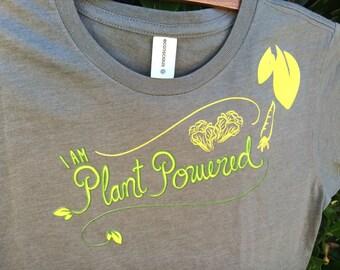 I AM Plant-Powered Organic Women's Tshirt