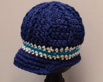 Crochet Newsboy Hat, Crochet Newsboy Hat for Boy, Babyboy Newsboy Hat