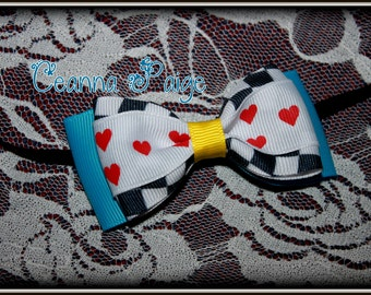 Wonderland Hair bow headband - Wonderland headband - Alice in wonderland baby headband - girls wonderland headband