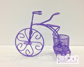 Bicycle Purple Wedding Favor Tricycle Wire Wedding Favours Decorations Baby Shower Favor Bike Wedding Favor Bicycle Purple Wedding Decors