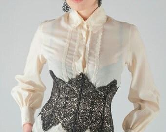 Bobbin Lace corset belt bobin lace russian lace handmade lace