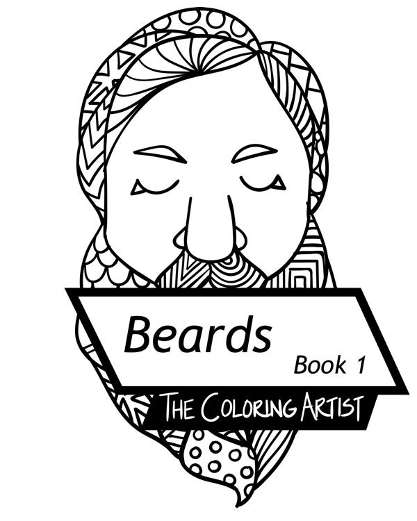 beard coloring pages   Beards Coloring Book 1 Instant Download PDF 10 Pages By
