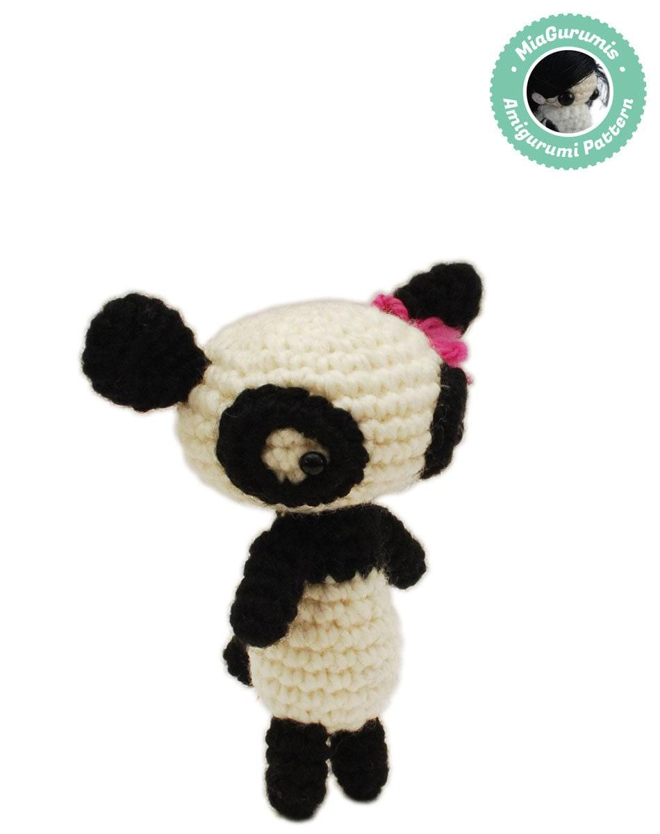 how to make a crochet panda amigurumi