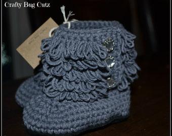 Crochet Furrylicious booties