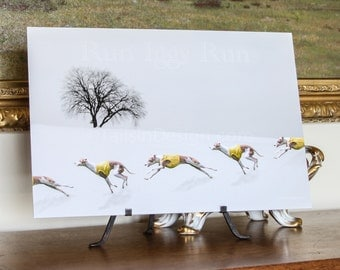 Italian Greyhound Winter Run Art