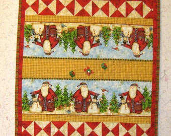 Santa Quilted Table Runner