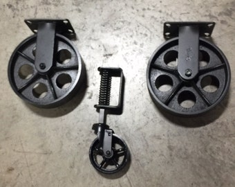 Industrial Cart Coffee Table Caster Set