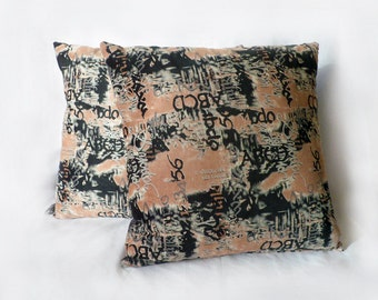 One Graffiti Urban Typography Cushion Pillow Cover 16x16 or 18x18 inches