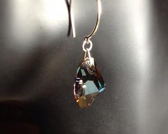 Swarovski dangle earring in silver