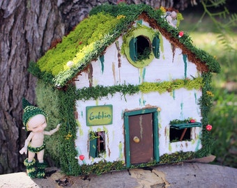 50% discount House of forest miniature for Realpuki, goblins, fairies, Fairyland