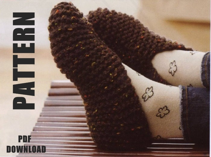 Knitting Pattern Ladies Slipper Boots : Slipper Socks Ladies Slippers Knitting Pattern Ladies Basic
