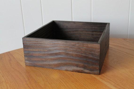 Items similar to wooden box dark brown wedding