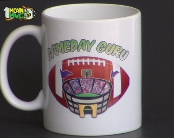 Game Day Guru Football Coffee Mug- 11 oz Coffee Mug for the Football Fanatic!