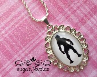 Disney's Tarzan Silhouette Necklace - Tarzan Glass Necklace - Tarzan Glass Cameo - Tarzan Glass Necklace - Tarzan Necklace
