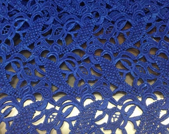 Nave Blue Lace Fabric , Fashion Lace , Guipure Lace Fabric , Cord Lace Polyester Lace For Fashion Dess sewing