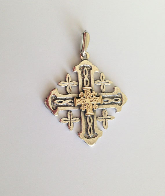 20 sale jerusalem cross pendant gold pendant