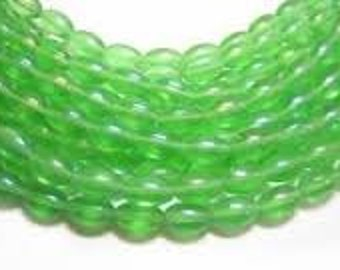 EOL - Glass Rice Beads - 6x13mm - Pack 50 - Green