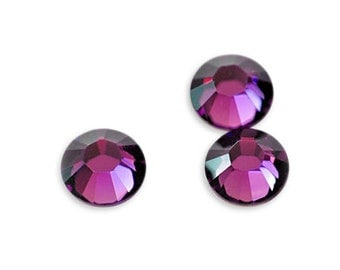 SWAROVSKI - SS10 - 2028 Not Hot Fix Xilion Rose Flatback Chatons - Amethyst - Pack 144 / 1 Gross