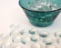 2 lb Clear flat glass marbles -  vase filler