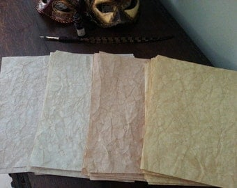 30 pages COPPER aged parchment paper for Book of Shadows/spell book/journal/writing/ vintage paper aged