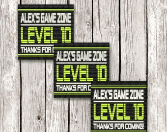 Video Game Party Favor Tags - Gamer Birthday Party - Gamer Loot Bag Favors - DIY Printable
