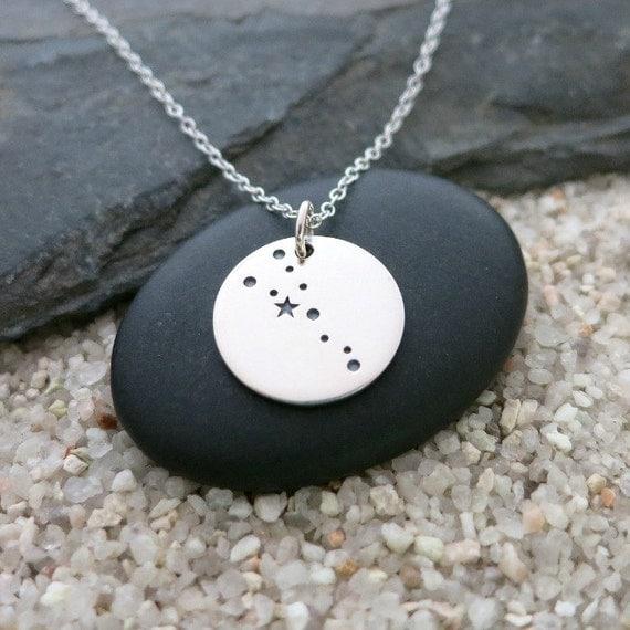 Taurus Constellation Necklace Sterling Silver Taurus