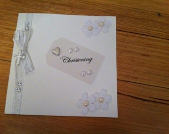 Christening Themed Handmade Card