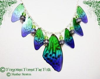 Emerald Dancing Wings Necklace