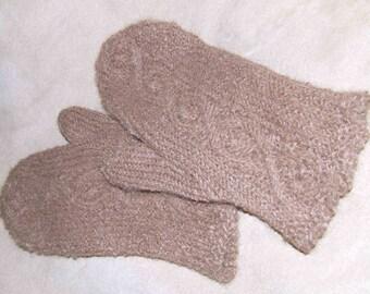 Handknit Alpaca Soft and Warm Mittens